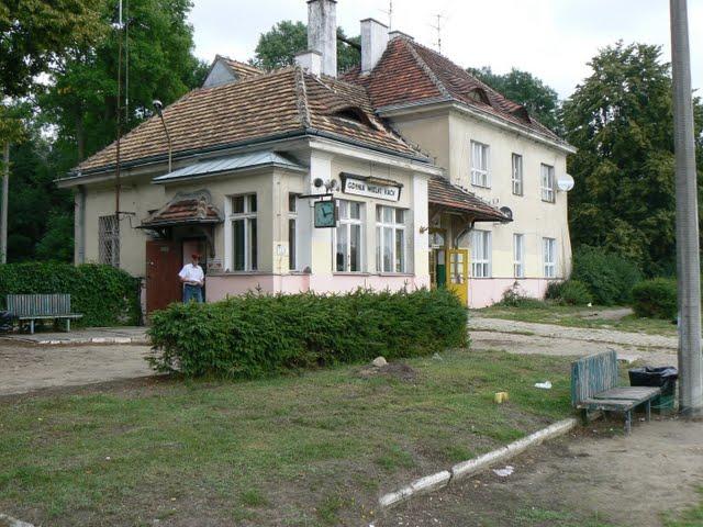 Dworzec Kolejowy w Wielkim Kacku, z tąd został wywieziony do obozu Leon Hirsz wraz z pozostałymi zakonnikami